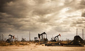 Oil Field in Desert — Stock Photo