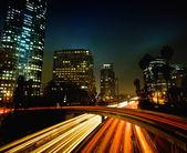 Urban City at Night — Stock Photo