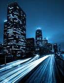 Urban City at Night — Foto Stock
