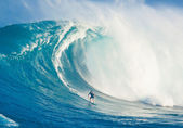 MAUI, HI - MARCH 13: Professional surfer Billy Kemper rides a gi — Stock Photo