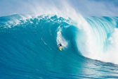 Surfer on Giant Wave — Stock Photo