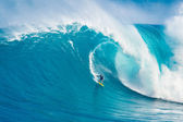 MAUI, HI - MARCH 13: Professional surfer Carlos Burle rides a gi — Foto Stock
