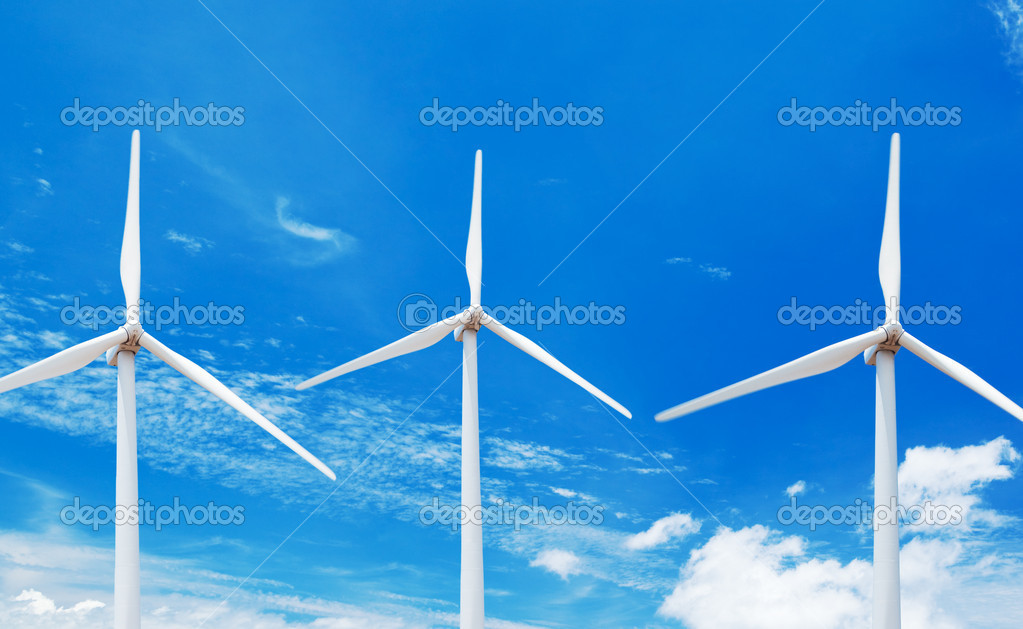 Windmills with Blue Sky — Stock Photo #8450498