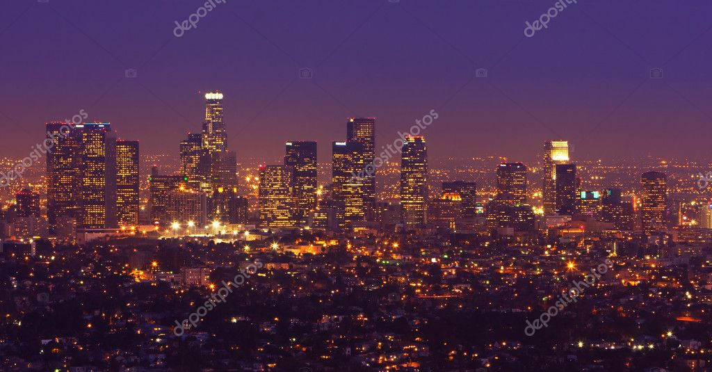 Los Angeles, Urban City at Sunset — Stock Photo #8453584