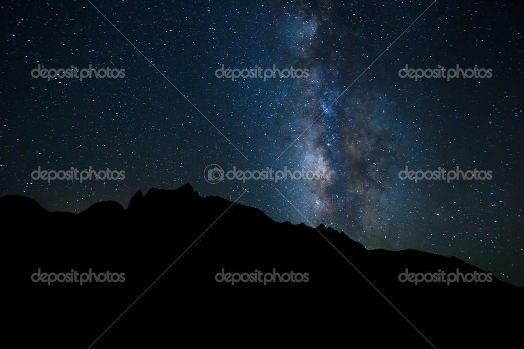 Night Sky, Bright Stars and Milky Way Galaxy — Stock Photo #8456190