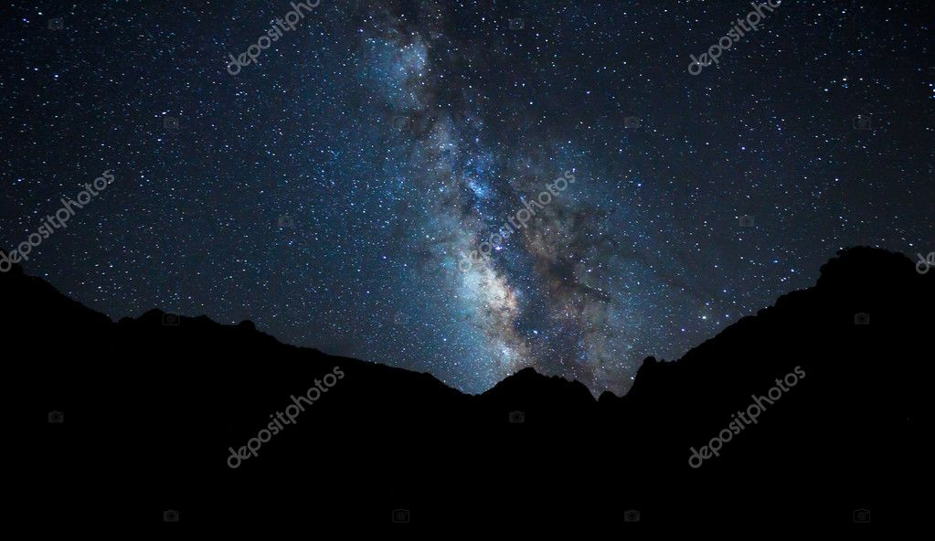 Night Sky, Bright Stars and Milky Way Galaxy — Stock Photo #8456981