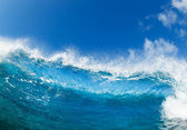 Blue Ocean Wave, View from in the Water — Stock Photo