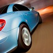 Fast Sports Car with Motion Blur — Photo