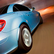 Fast Sports Car with Motion Blur — Stok fotoğraf