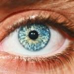 Visão macro do olho humano — Foto Stock