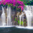 Stock Photo: Beautiful Lush Waterfall