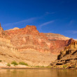 The Colorado River at the bottom of the Grand Canyon - Stok fotoğraf