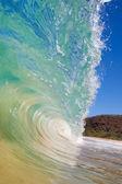 синяя океанская волна — Стоковое фото
