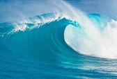 Blauwe oceaan golf — Stockfoto