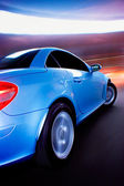 Fast Sports Car with Motion Blur — Стоковое фото
