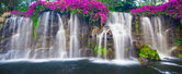 Beautiful Lush Waterfall — Stock Photo