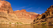 The Colorado River at the bottom of the Grand Canyon — Stock Photo