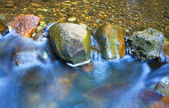 Water rushing over River Rocks — Stock Photo