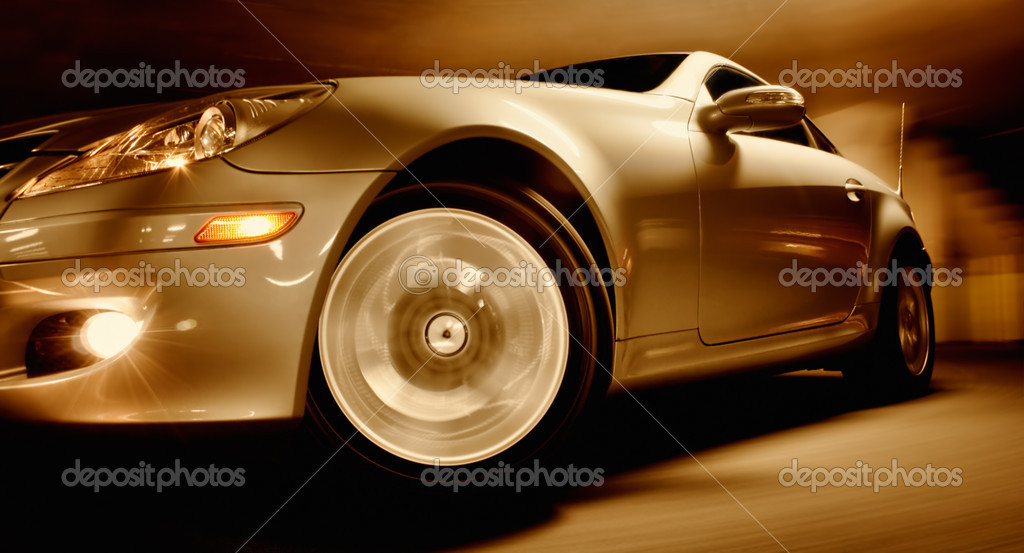 Fast Sports Car with Motion Blur — Stock Photo #8471270