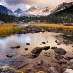magnifique paysage, coucher de soleil magnifique sur la montagne — Photo