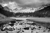 Dramatic Landscape, Mountain in Black and White — Stock Photo