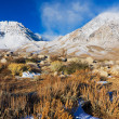 Stock Photo: beautiful snowy mountain at sunrsie
