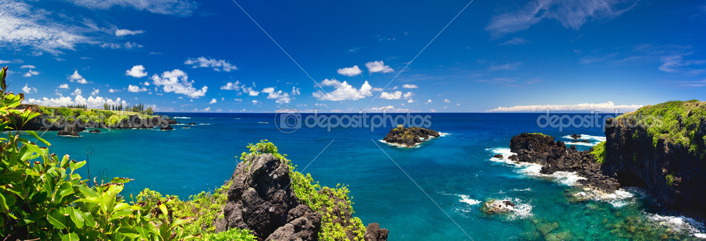 Tropical Ocean Coastline in Hawaii — Stock Photo #8551868