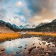 Amazing Landscape, Beautiful Mountain Sunset Panorama — Stock Photo #8615891