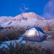 acampando en las montañas — Foto de Stock