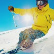 Skier on the Mountain - Stock Photo