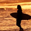 Sunset Surfer — Stock Photo