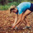 Runner Stretching — Foto Stock