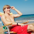 Stock Photo: Relaxing at the Beach