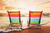 Concetto di tramonto vacanza hawaiana — Foto Stock