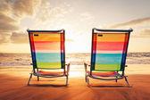 Concepto del atardecer hawaiian vacation — Foto de Stock