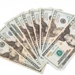 20 Dollar Bills Cash Currency - Stock Photo