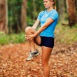 Runner Stretching — Stock Photo #9838656