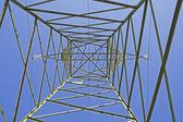 Italian electricity pylon medium voltage — Stock Photo