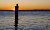 Sunset at the lake — Stock Photo