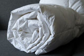 Detail of down comforter — Stock Photo