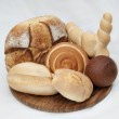 Different shapes and variety of bread — Stock Photo