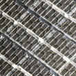 Royalty-Free Stock Photo: Detail of the cells of a portable solar panel