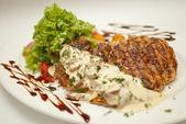 肉菜鱼棍棒 — 图库照片