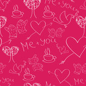 Seamles Saint Valentine's Day Pattern — Stock Vector