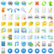 Application icons set - Stockvectorbeeld