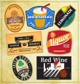 Vintage label templates for beverages — Stock Vector