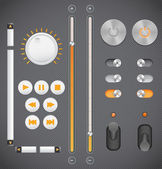 Graphic User Interface Set — Stock Vector