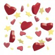 Hearts and stars — Stock Vector