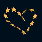 Stars heart — Stock Vector