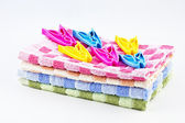 Pure towels and clothespins — Foto Stock